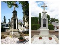 Výroba a montáž repliky kříže na hrob významného malíře Gustava Vacka.